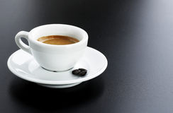Italian expresso with beans Stock Photo