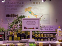 Italian extra virgin olive oil Stock Images