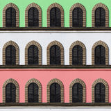 Italian facade windows Royalty Free Stock Image