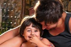 Italian family lifestyle portrait stock photos