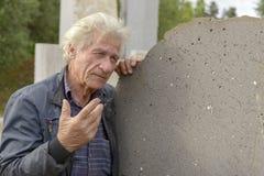 Italian famous sculptor Pinuccio Sciola Stock Photo