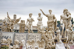 Italian famous statues and monuments Stock Image