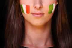 Italian fan Royalty Free Stock Photo
