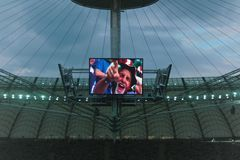 Italian fan at euro 2012 semi-final in Warsaw Poland Stock Image