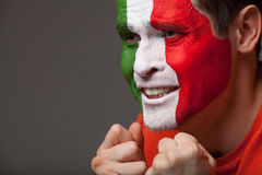 Italian fan. Royalty Free Stock Image