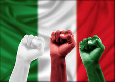 Italian fans Royalty Free Stock Photo