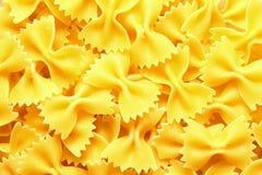 Italian Farfalle Pasta raw food background Stock Photo