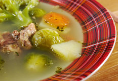 Italian  farm-style   soup with broccoli Royalty Free Stock Image