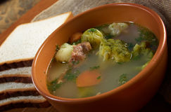 Italian  farm-style   soup with broccoli Stock Images