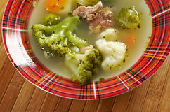 Italian  farm-style   soup with broccoli Royalty Free Stock Photos