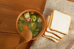 Italian  farm-style   soup with broccoli Stock Image