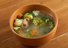 Italian  farm-style   soup with broccoli Stock Photos