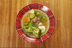 Italian  farm-style   soup with broccoli Royalty Free Stock Photo