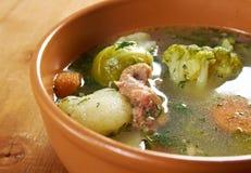 Italian  farm-style   soup with broccoli Stock Photos