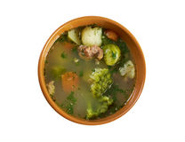 Italian  farm-style   soup with broccoli Stock Photo