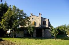 Italian Farmhouse And Trees Royalty Free Stock Photo