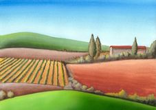 Italian farmland Stock Images
