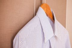 Business suit ready for travel. Italian fashion - business shirt, classical dresscode, ready for a business trip Royalty Free Stock Image