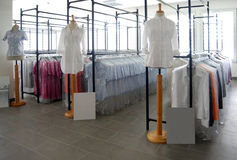 Italian fashion, clothing factory - Show Room Stock Images