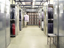 Italian fashion, clothing factory - Warehouse Royalty Free Stock Images