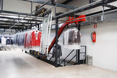 Italian fashion, clothing factory - Warehouse Stock Photo