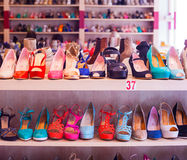 Italian female shoes Royalty Free Stock Photos
