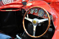Italian Ferrari 375 Plus luxury classic car interior Stock Photo