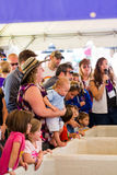 Italian festival. Lakewood, Colorado, USA-September 6, 2014. A lot of people look like grapes breaking at the annual Italian festival, Belmar, Colorado Stock Photos