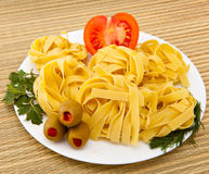 Italian fettuccine nest pasta Stock Photography