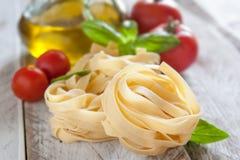 Italian fettuccine nests Stock Photo