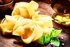Italian fettuccine pasta closeup Royalty Free Stock Photos