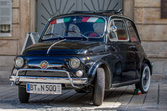 Italian Fiat 500 Classic sporty convertible of the 60s Royalty Free Stock Photo
