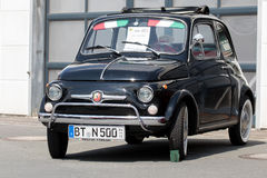 Italian Fiat 500 Classic sporty convertible of the 60s Stock Photography