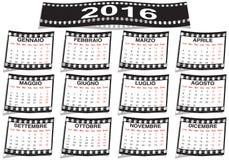 Italian film strip calendar 2016 Stock Photo