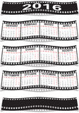 Italian film strip calendar 2016. Graphic illustration of the Italian film strip calendar 2016 Royalty Free Stock Photos
