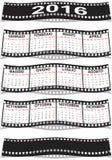 Italian film strip calendar 2016 Royalty Free Stock Photos