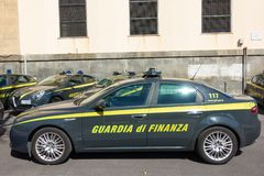 Italian Financial Guard car