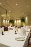 Italian fine dining restaurant interior Royalty Free Stock Photos