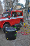 Italian fire brigade lorry Stock Image