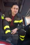 Italian fireman Royalty Free Stock Image