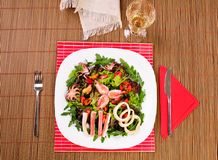 Italian fish salad on table Royalty Free Stock Photo