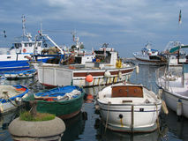 Italian Fishing Boat in Harbor Stock Images