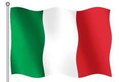 Italian flag. 3D Italian flag Vector Illustration