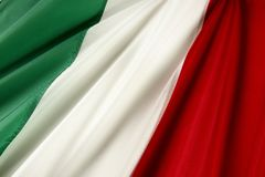Italian flag. Close up shot of wavy Italian flag stock photography