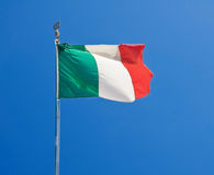 Italian flag. Italian flag on blue sky stock photos