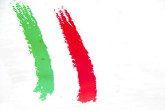 Italian flag. Painted on a metal surface wet royalty free stock photo
