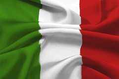 Italian Flag. The Green, white and red italian flag royalty free stock image
