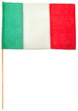 Italian flag. Isolated on white, clipping path included royalty free stock photos
