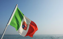 Italian flag Stock Photo