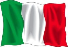 Italian flag. Waving flag of Italian isolated on white
